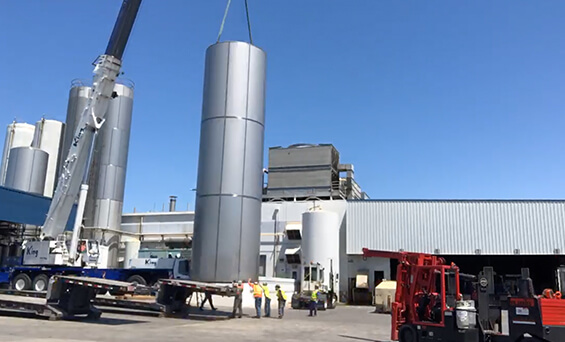 decommission dairy facility tank removal