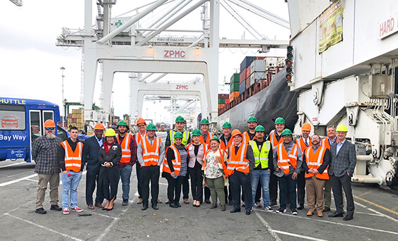 werc chapter tours the port of oakland